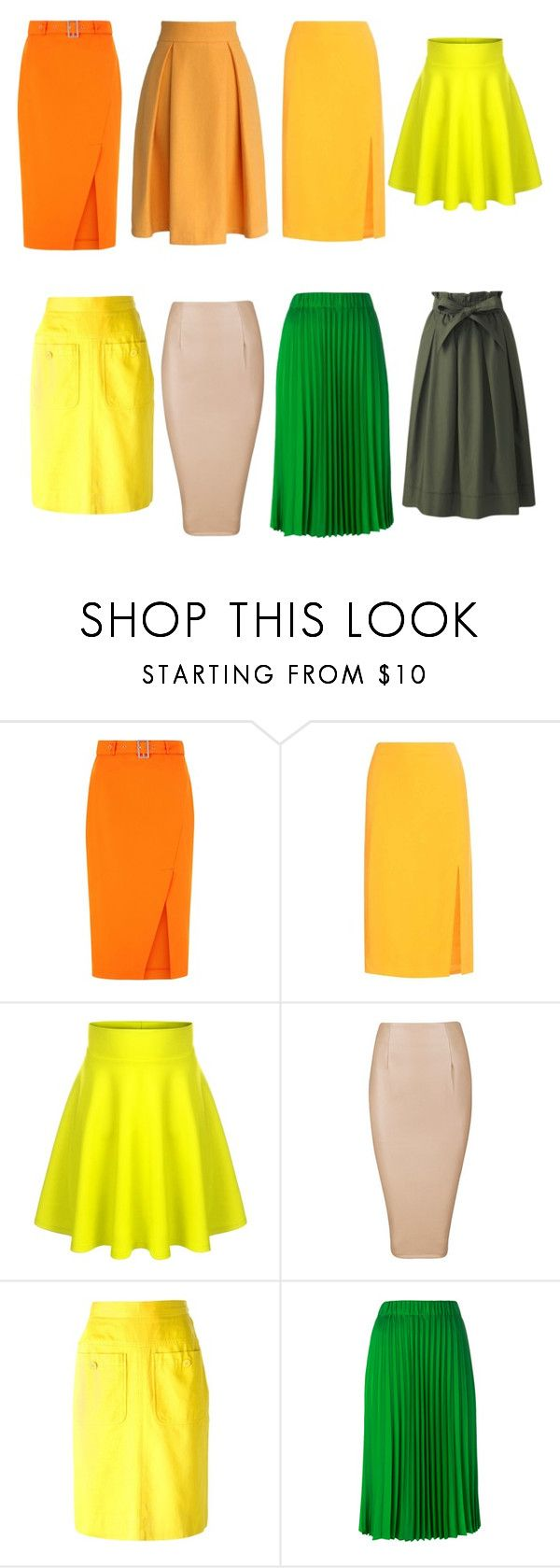"""юбки желто-зеленые"" by tamaraatma on Polyvore featuring Altuzarra, Yves Saint Laurent, P.A.R.O.S.H. and Uniqlo"