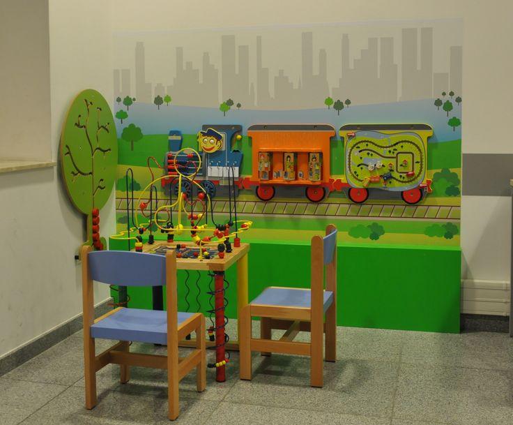 Kącik zabaw dla dzieci w urzędzie