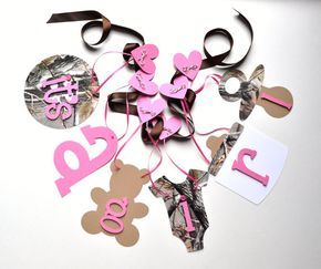 pink+camouflage+baby+shower+decorations   Realtree Camo baby shower decorations pink It's a girl banner by ...