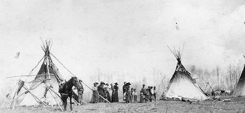 Beaver family near Peace River, Alberta - 1911