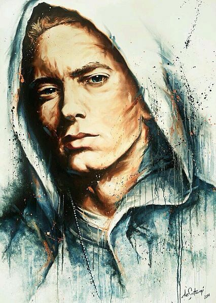 Amazing painting of #eminem