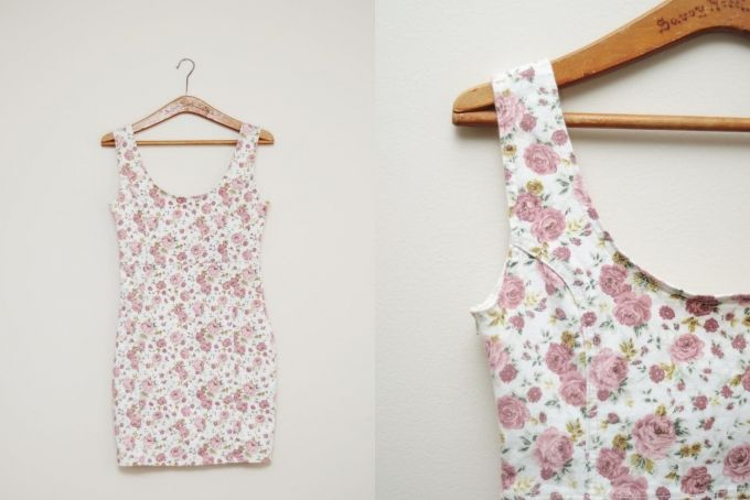 Denim Floral Dress (New) by Lambley