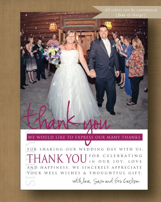 1000 images about Thank You Card Inspiration – Modern Wedding Thank You Cards