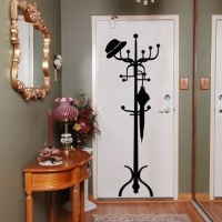 cute and practical, this removable decal has a hook and you can easily add some more! $90