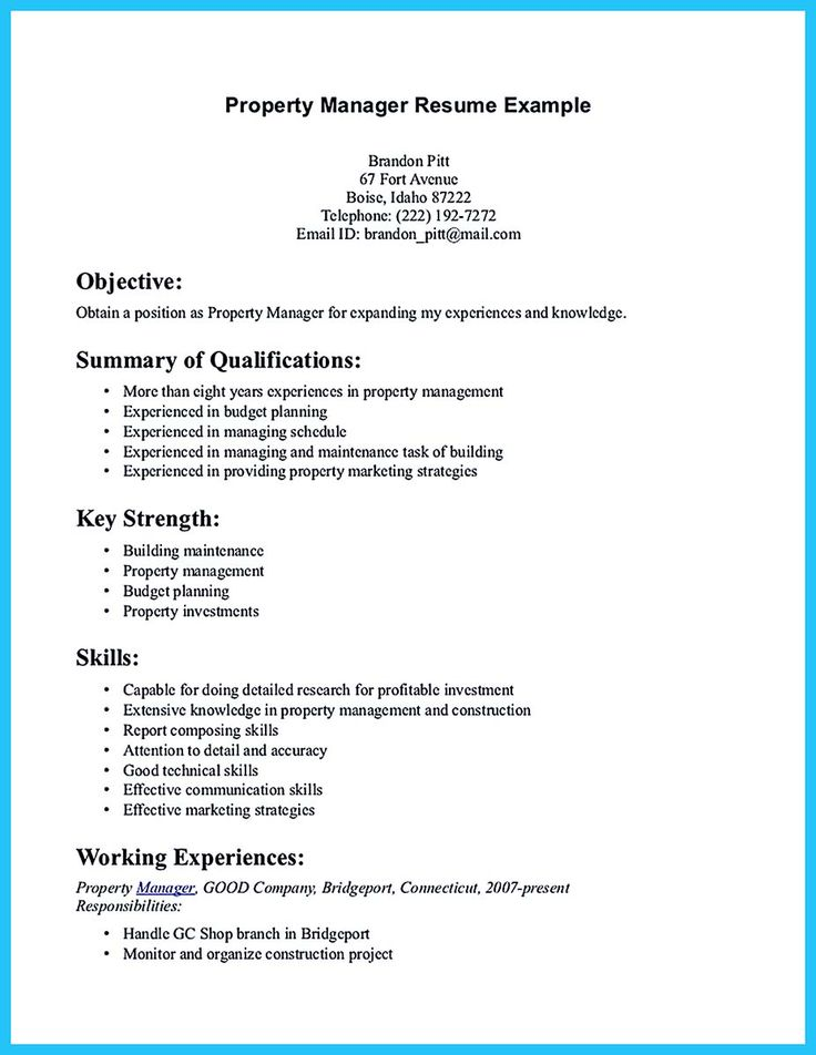 21+ Property manager resume summary ideas in 2021