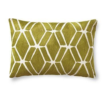 Embroidered Fretwork Pillow $29