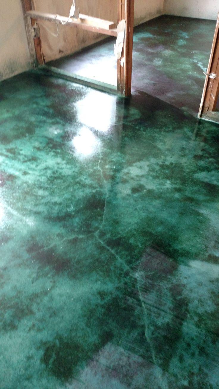 malachite floor