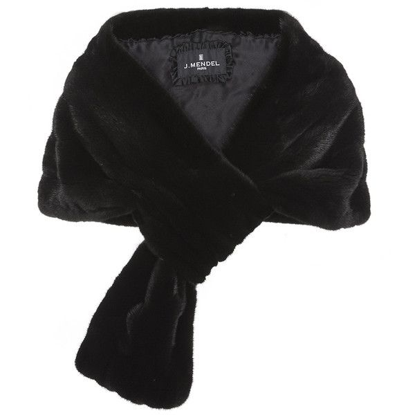 J. Mendel Classic Mink Fur Pull-Through Stole (12,245 CAD) ❤ liked on Polyvore featuring accessories, scarves, wrap shawl, j. mendel, black mink stole, mink fur shawl and mink stole