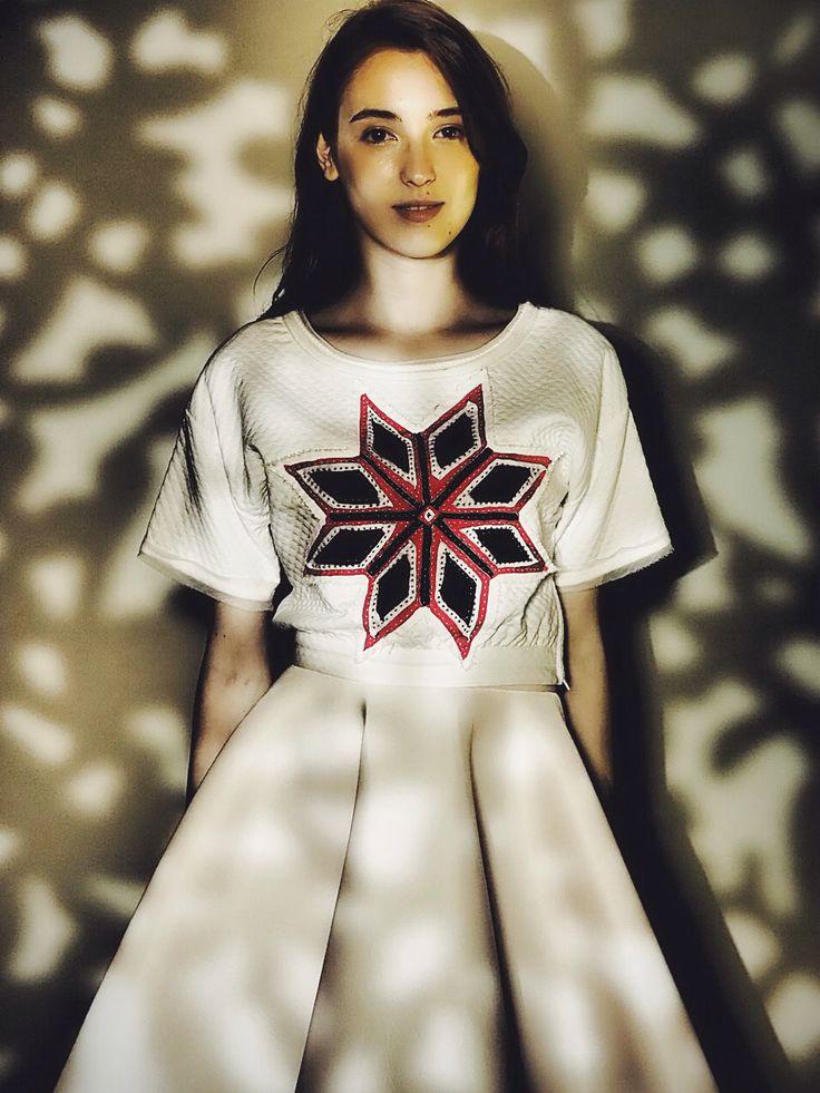Feminine look, Contemporary Design, Handmade Embroidery, Traditional Design.