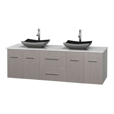 Photo Gallery For Photographers Wyndham Collection Centra inch Double Bathroom Vanity in Gray Oak White Man Made