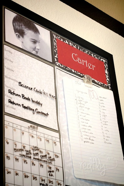 Keep your kids organized! Free homework center printables from www.redflycreations.com