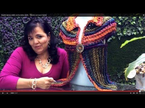 Saquito Hojarasca - Tejido RÁPIDO con dedos - Tejiendo con Laura Cepeda - YouTube