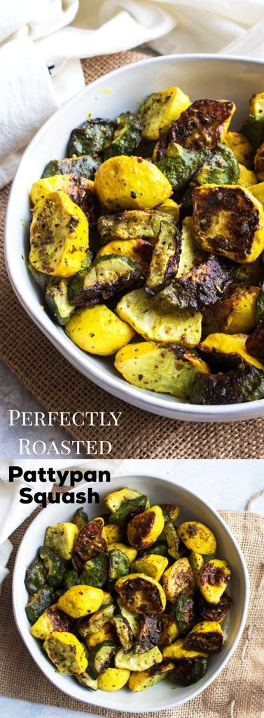 PERFECTLY ROASTED PATTYPAN SQUASH