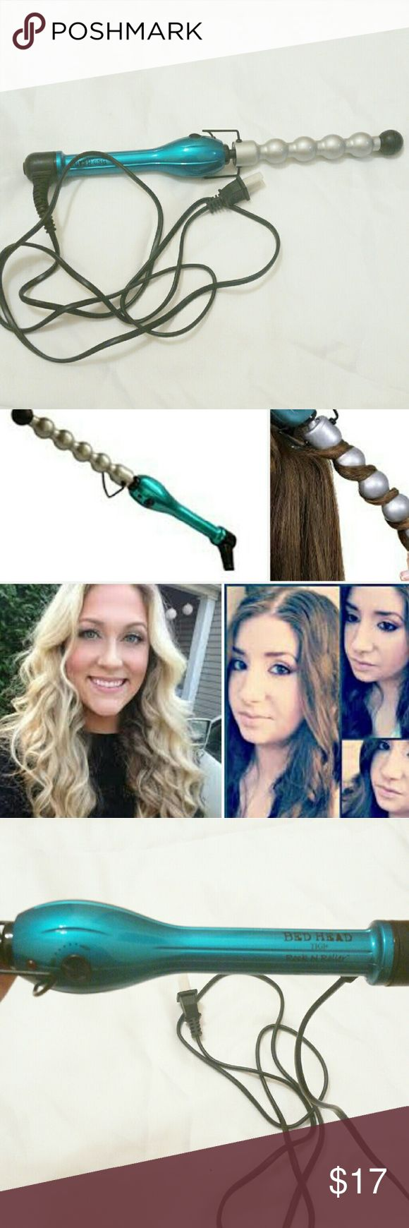 """Blue Bubble Curling Wand New never used without box Used For: Hair Styling, curling For Use On: Hair Hair Type: All Hair Types Barrel Size: 1"""" Features: Multiple Heat Settings, Power Indicator Light, High Heat, Cool Tip Material: Plastic Heating Time: 30 second Number of Heat Settings: 3 BedHead Accessories Hair Accessories"""
