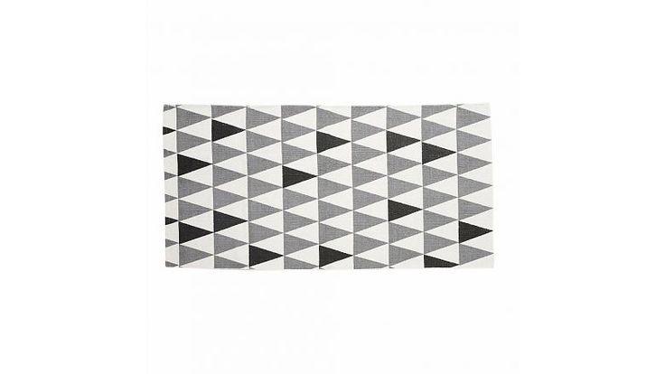 Hubsch vloerkleed grafische patroon zwart wit grijs
