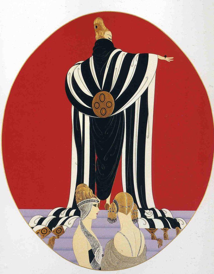 """""""Monaco"""" fashion serigraph by Erté, 1989"""