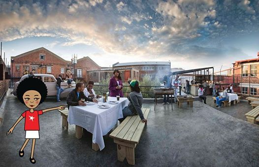 Me on the Maboneng plaza, check out the sunset! #zibu #heritagemonth #southafrica http://tinyurl.com/mo3vp2f