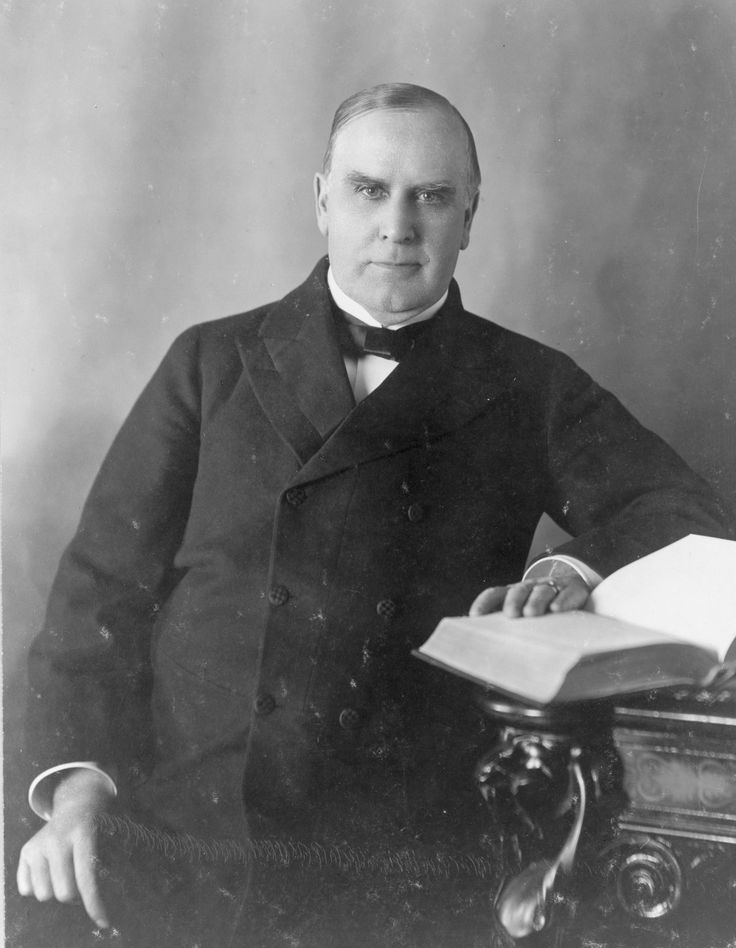 presidential outline william mckinley Our 25th president for many years, william mckinley's presidency was considered just 'mediocre' by historians he was, many of them believed, an executive who was easily controlled by political cronies and who was pressured into war with spain by the media and public outrage.