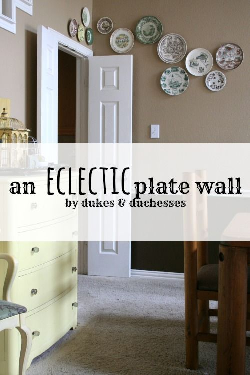 The idea of using vintage plates as wall decor accents in the ...