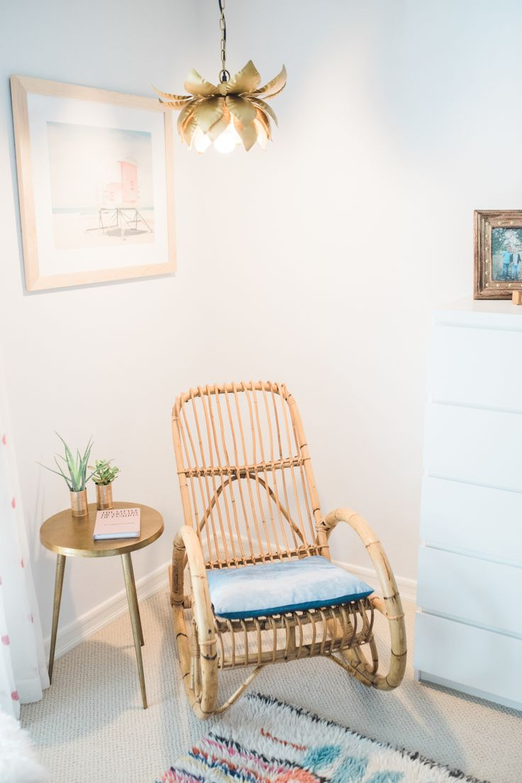 Bohemian bamboo rocking chair: Read More on SMP: http://www.stylemepretty.com/2016/08/26//