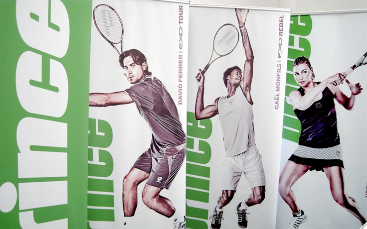 Tennis players banners. I liked the action and energy of the photos combined with the clean design.