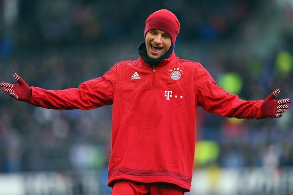 Thomas Mueller Photos Photos - Thomas Mueller of Muenchen reacts prior to a friendly match between Karlsruher SC and FC Bayern Muenchen at Wildpark Stadium on January 16, 2016 in Karlsruhe, Germany. - Karlsruher SC v FC Bayern Muenchen  - Friendly Match