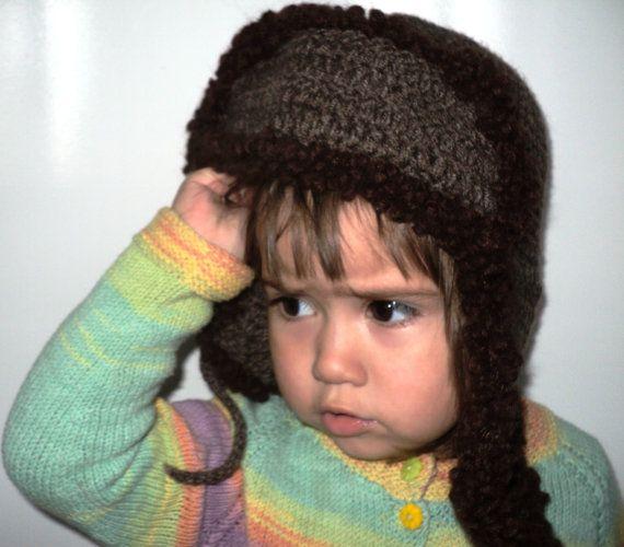 Boys hat ears crochet Earflaps Child cap Hat ears Cap Russian