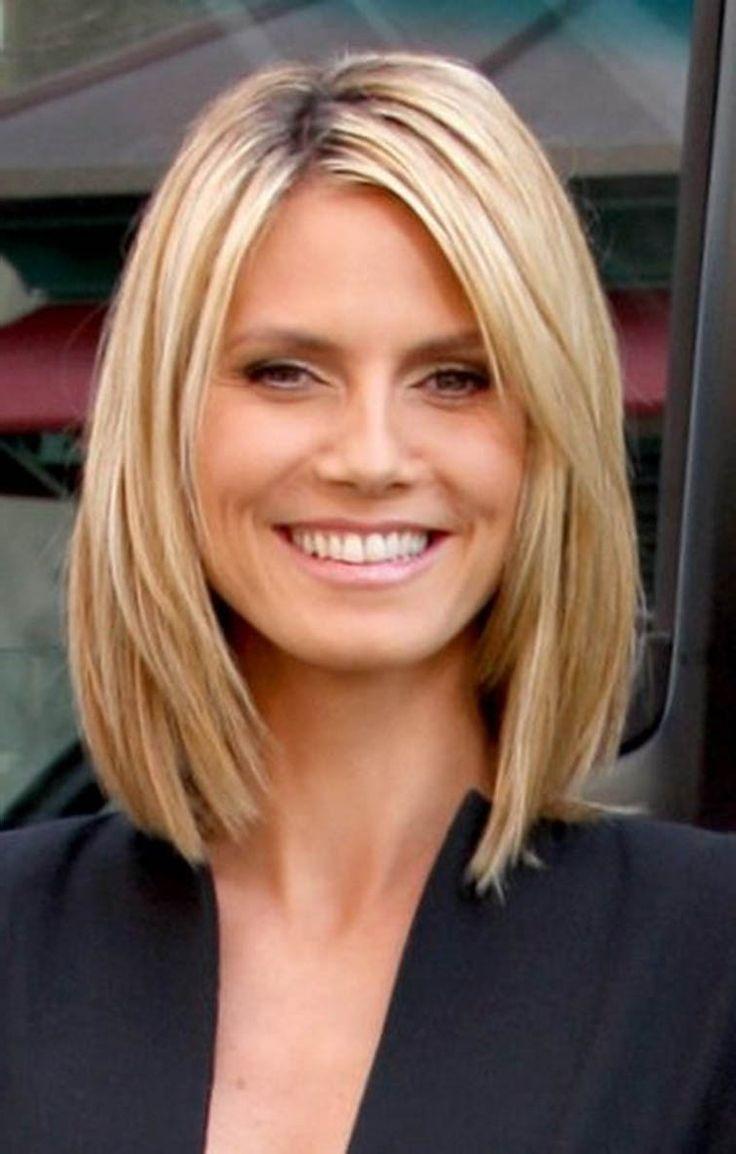 Image result for medium length straight hair 2017  Hair  Thin hair haircuts Hair cuts Medium
