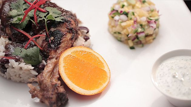MKR4 Recipe - Jerk Chicken with Coconut Rice and Pineapple Salsa