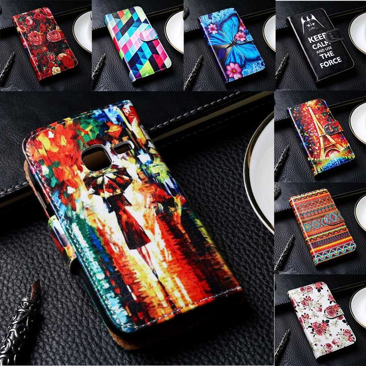 Flip PU Leather Phone Cover For Samsung Galaxy S5830/S6802/S7260/S7270/S7390/S7562/S7710/I8750/G3815 Cases Phone Solid Bag