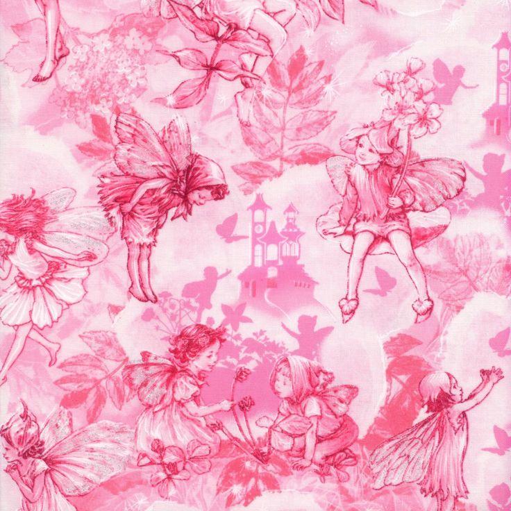 Jingle Bell Christmas Blue Fabric SSI Flower fairies