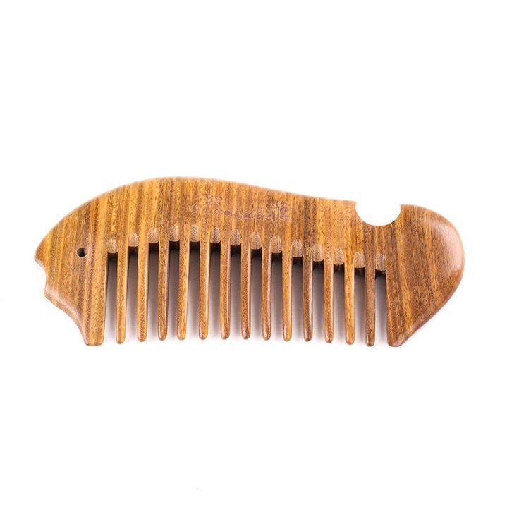Breezelike No Static Fish Shaped Sandalwood Pocket Wide Tooth Comb ** You can find out more details at the link of the image. #hairclip