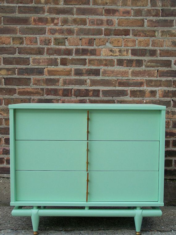 furniture makeover - mint green dresser