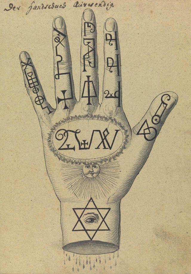 Compendio de la mano rarissimum totius Artis ... magicae, Wellcome Library…