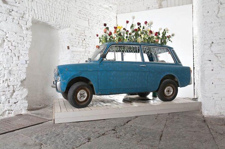 Manuel Felisi: Abandoned Cars, Rooftops Gardens, Artists Manuel, Vintage Cars, Hanging Plants, Art Installations, Old Cars, Manuel Felisi, Vintage Art