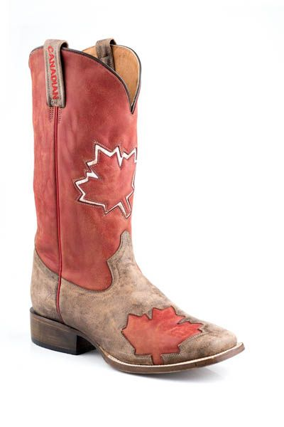 Men :: Footwear :: Western Boots :: Roper Canadian Flag Mens Cowboy Boot by Roper - 110% these are the next pair of boots I'm buying.