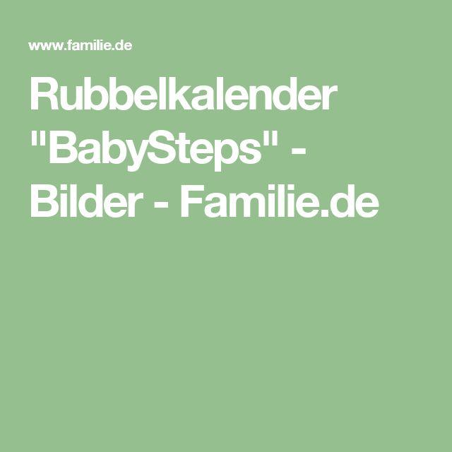 "Rubbelkalender ""BabySteps"" - Bilder - Familie.de"