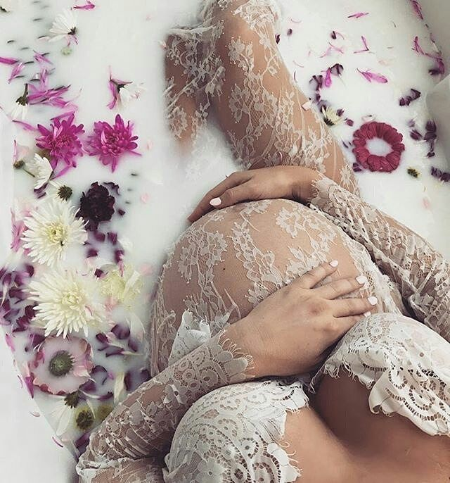 """{I have this dress on the way! - Memory Me Studio} Beautiful Mama @fitwithemina wishing you a speedy and safe delivery!  Follow @bubzwonderland for more baby inspo ♡ ・・・ """"I'll love you forever, I'll like you for always, As long as I'm living, my baby you'll be.""""   #readyforyoubaby #39weeks #39weekspregnant #stylishbump #milkbath #pregnancy #picoftheday #photooftheday #inspirepregnancy #babybump #preggers #boyorgirl #januarybaby #baby #firsttimemom #readytomeetyou"""