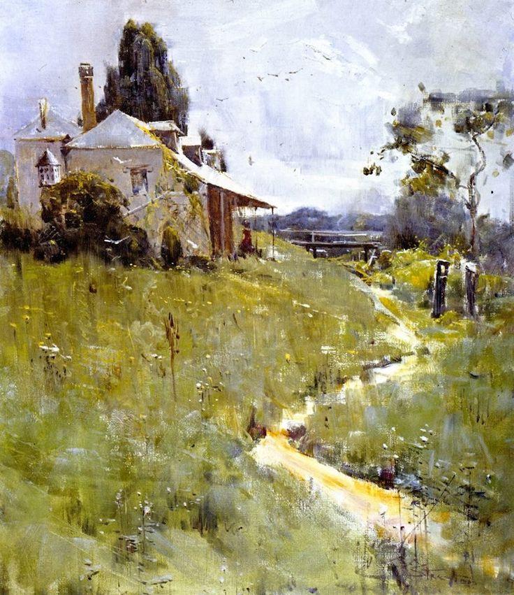 Painting by Sir Arthur Ernest Streeton (1867-1943) Australian Artist.