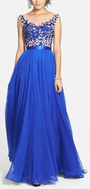 beautiful lace and chiffon gown http://rstyle.me/n/ppf59r9te