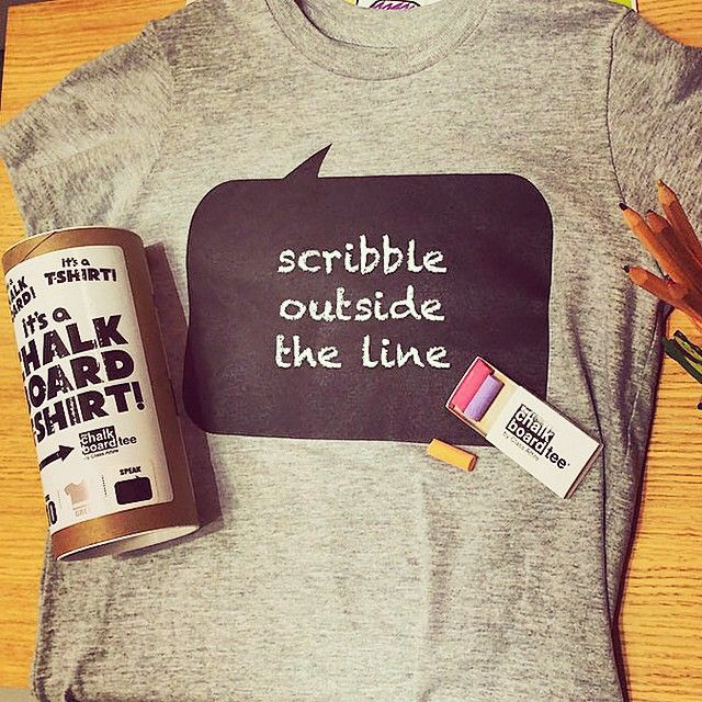 Check out this week's sale! All our chalkboard tees in both adult and child sizes are 40% off! Start getting creative and put those doodle skills to use! #iloveorangefish #doodle #scribble #draw #toronto #yyz #sale