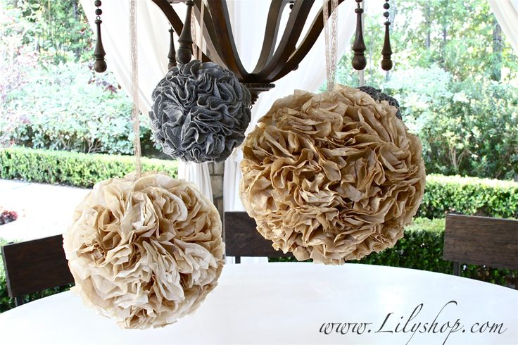 How to Make Party Poms via Lilyshop Blog by Jessie Jane
