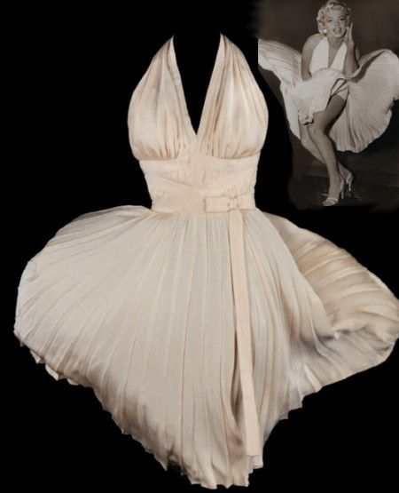 "Marilyn Monroe ""Seven Year Itch"" dress by Tavilla (sold at auction for 4.6 million) via What are they wearing now"
