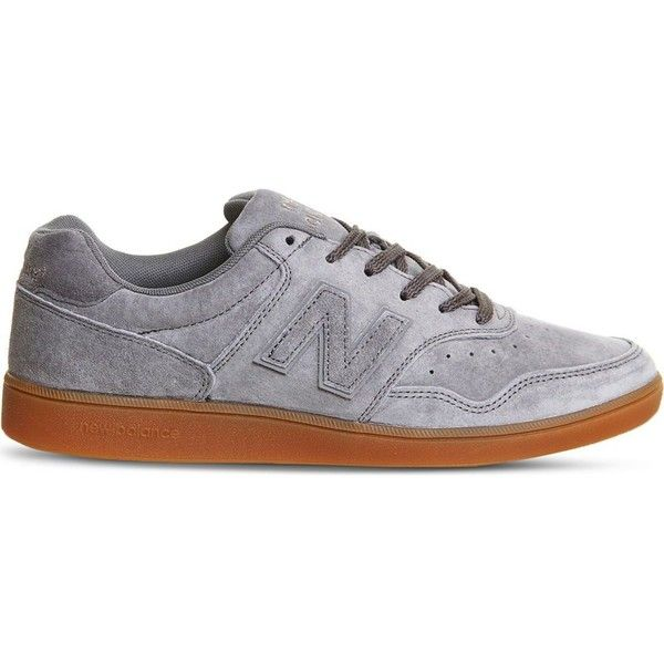 NEW BALANCE 288 suede trainers ($85) ❤ liked on Polyvore featuring shoes, sneakers, mens suede lace up shoes, new balance mens sneakers, mens suede shoes, mens suede sneakers and mens leopard print shoes