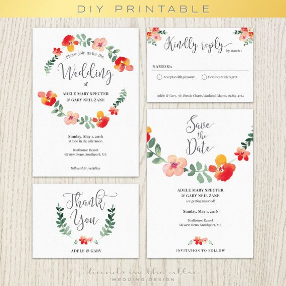 83 best Wedding Invitations images on Pinterest