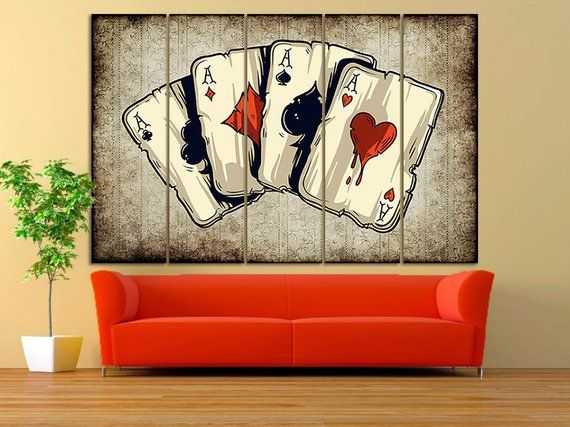 Poker Room Wall Art