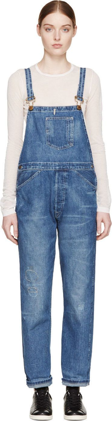 Levi's Vintage Clothing Blue Bib And Brace Youth Wear Long Overalls