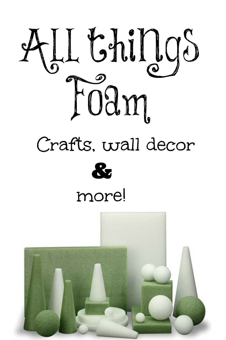 All things foam crafts. #FloraCraft. #Wreaths, wall decor and more! #Michaels