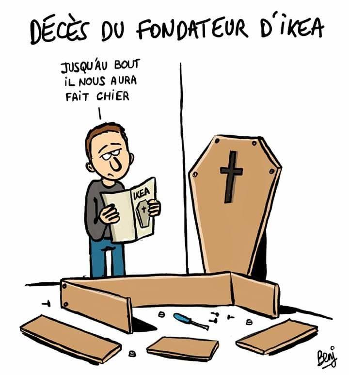 cercueil ikea humour