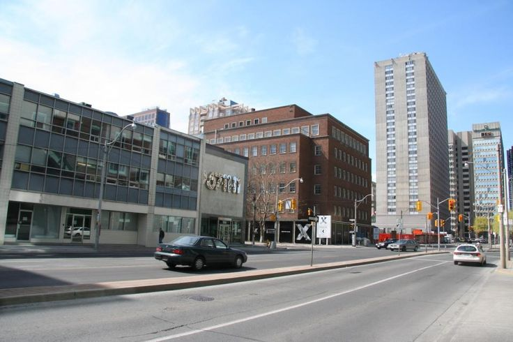 April 28, 2016: View northwest towards the corner of Jarvis and Charles, May 1, 2006, image by Edward Skira #UrbanToronto #Toronto #urban #city #downtown #tbt #throwbackthursday